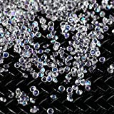 TAOtTAO 2000Pcs 2MM DIY Diamond Table Confetti Clear Crystal Events Party Accessories (white)