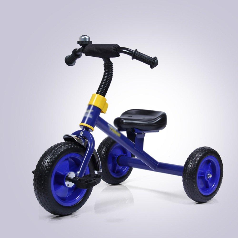 マチョン 自転車 子供の三輪車の自転車1-3男性と女性の赤ちゃんの子供のペダル自転車の赤ちゃんキャリッジ B07DS5HXSF 青 青