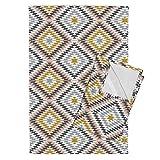 Roostery Aztec Print Aztec Southwest Tea Towels Aztec Dreamweaver by Littlearrowdesign Set of 2 Linen Cotton Tea Towels