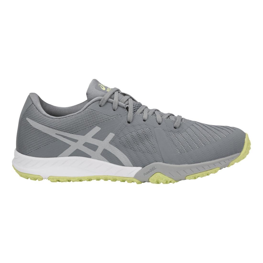 ASICS Womens Weldon x Fabric Low Top Lace up Running Sneaker B0719HJ7F6 9 B(M) US|Stone Grey/Mid Grey/Limelight