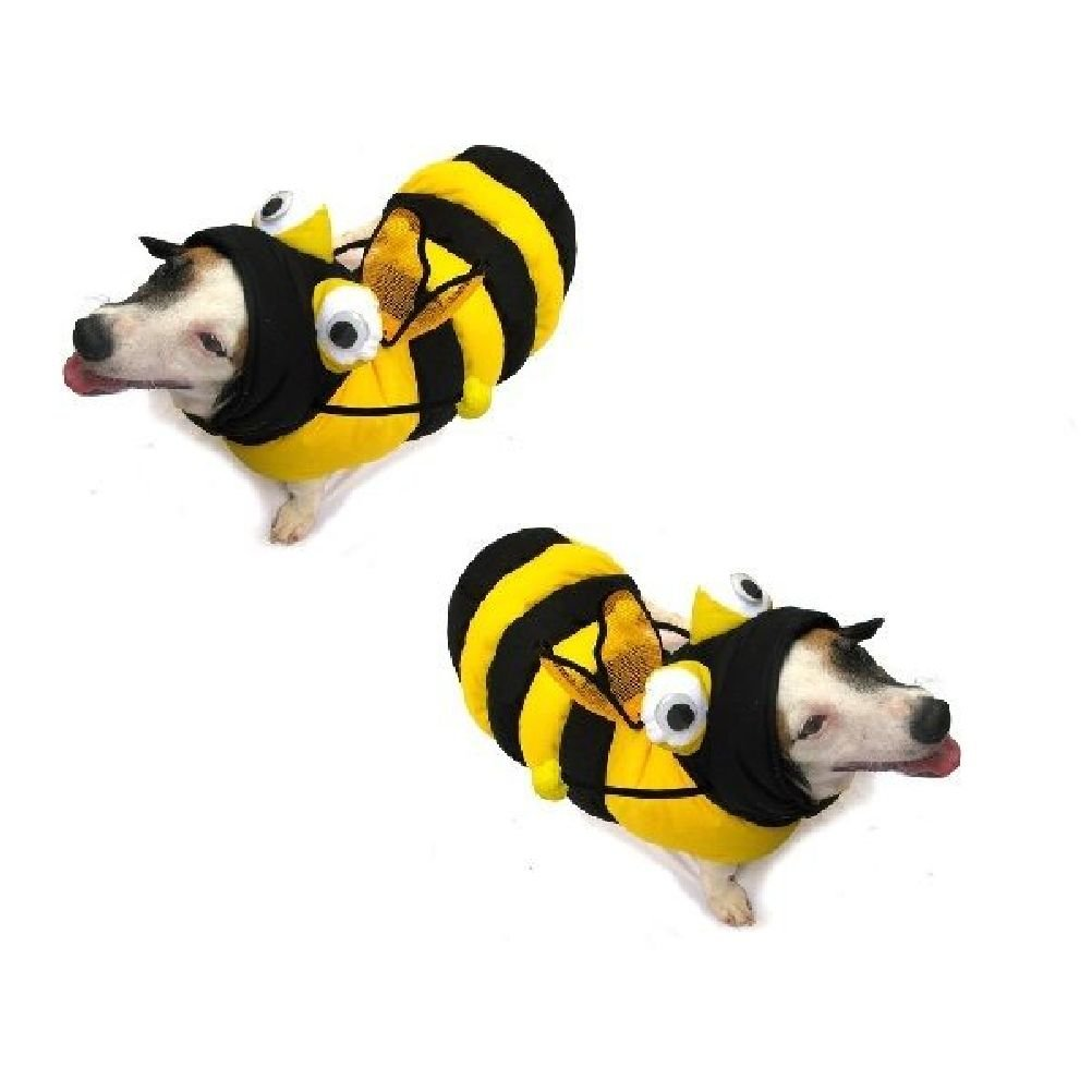 Bee 3-D Costumes-Dress Your Dogs Like A Bumblebee