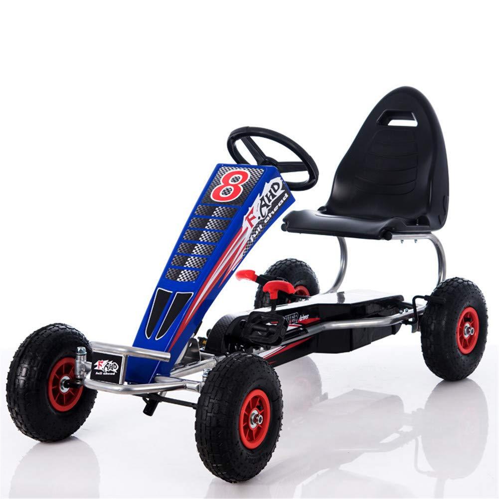 nueva gama alta exclusiva azul Lvbeis NiñOs Go Kart Coche De Pedales Racing Racing Racing Deportivo Karting con Asiento Ajustable Y Freno De Mano para De 5 A 15 AñOs  costo real
