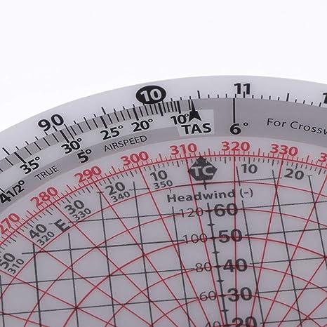 sharprepublic Plotter de Gráfico Giratorio Plástico Trazador con Números y Escalas Precisas Suministros de Navegación: Amazon.es: Hogar