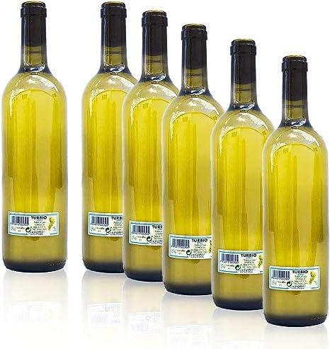 Pack 6 Botellas Vino Turbio Gallego 75 Cl. - Vino Blanco Túrbio ...