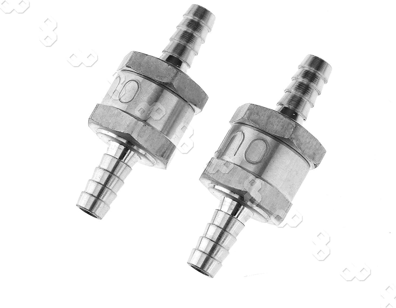 "2Pcs Aluminium 5//16/"" Fuel Line 1-Way Non Return Check Valve Petrol Diesel Oil"