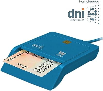 Woxter Lector DNI Electrónico Azul - Lector de DNI Electrónico Inteligente, DNI 3.0, Plug & Play, Compatible con PC y Mac: Amazon.es: Informática