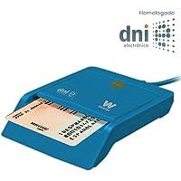 Woxter Lector DNI Electrónico Azul - Lector de DNI Electrónico Inteligente, DNI 3.0, Plug & Play, Compatible con PC y…