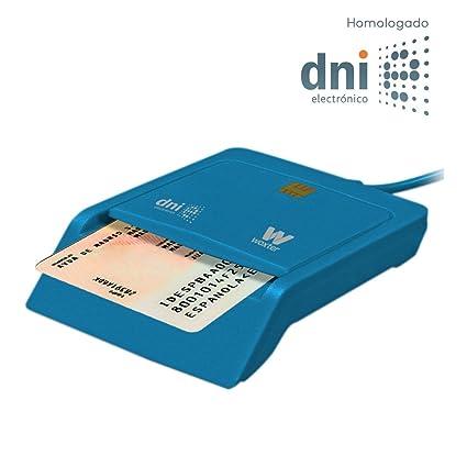 WOXTER DNI Electrónico - Lector de Tarjetas de Memoria, Color Azul