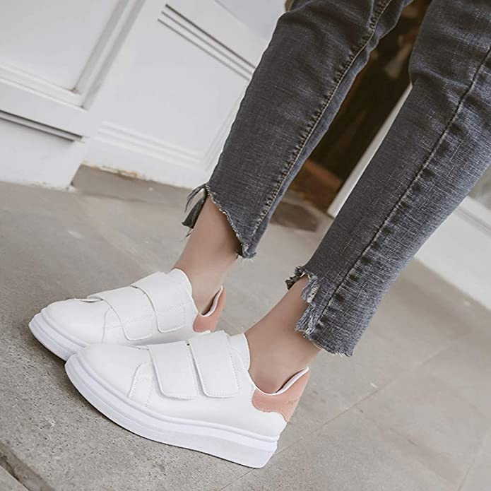 Amazon.com | Women Vulcanize Shoes Wedges Sneakers Casual Hook and Loop Vulcanize Shoes Female Zapatillas Mujer Zapatos De Mujer | Fashion Sneakers