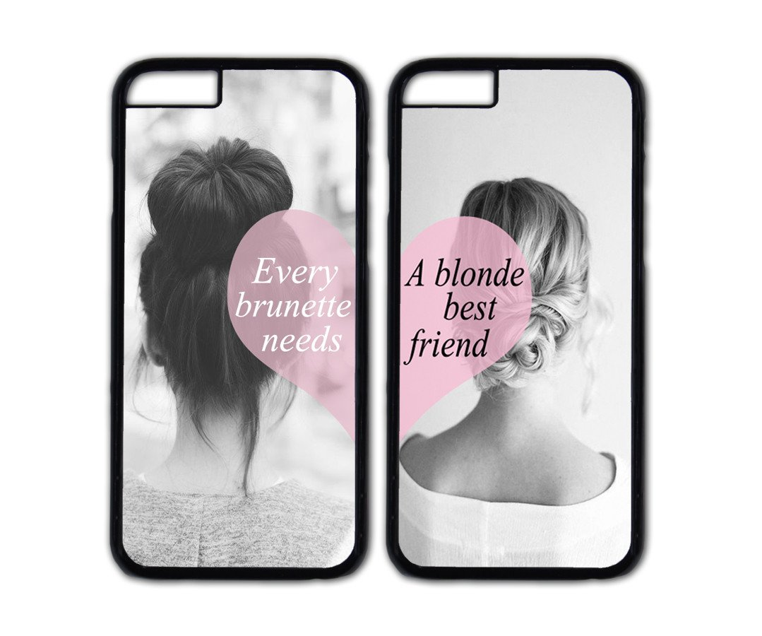 Needs A Blonde Best Friend Danielcase TPU Couple Case For IPhone 647 Inch Personalized Cover 5 Colors Available Cell Phones Accessories