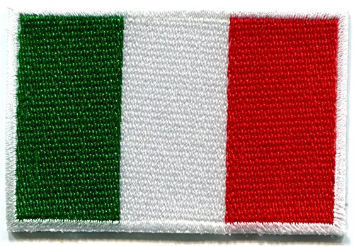 Italian Flag Patches (Italian flag Italy Rome hope faith charity embroidered applique iron-on patch new size Medium)