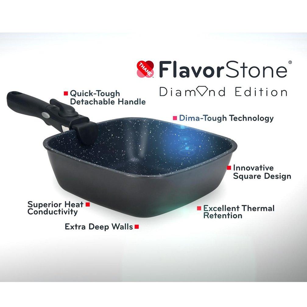Thane FlavorStone Diamond Edition - Sartenes cuadrados con mango ...