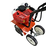 SHZICMY Tiller Cultivator, Air-Cooled 2-Stroke 52CC Soil Petrol Gas Powered Mini Tiller Cultivator Farm Plant Garden Yard Lawn Tilling