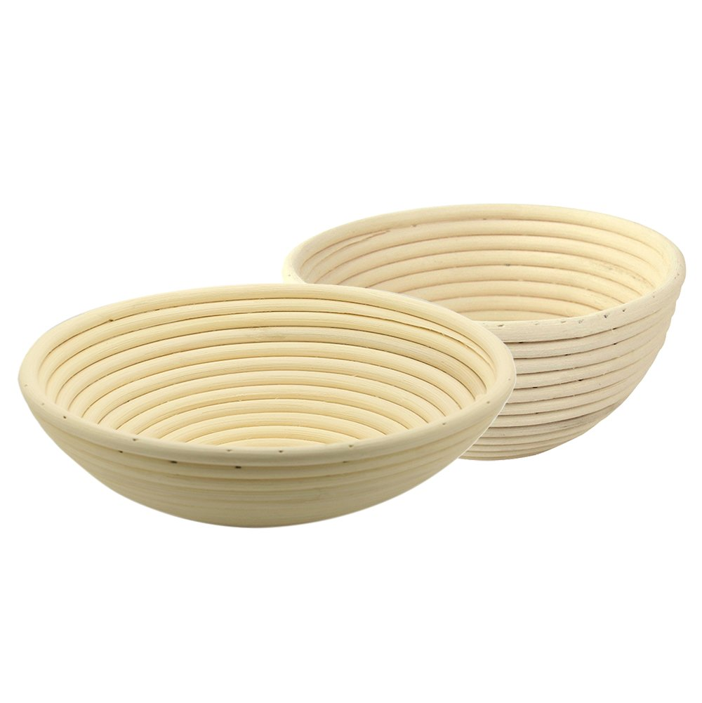 MyLifeUNIT Bread Proofing Basket, Banneton Proofing Bowl, Set of Two (8.6 inches and 7 inches) PV-7SDL-BOK7