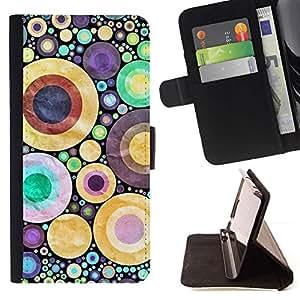 Momo Phone Case / Flip Funda de Cuero Case Cover - Dise?o abstracto de los lunares - Samsung Galaxy J3 GSM-J300