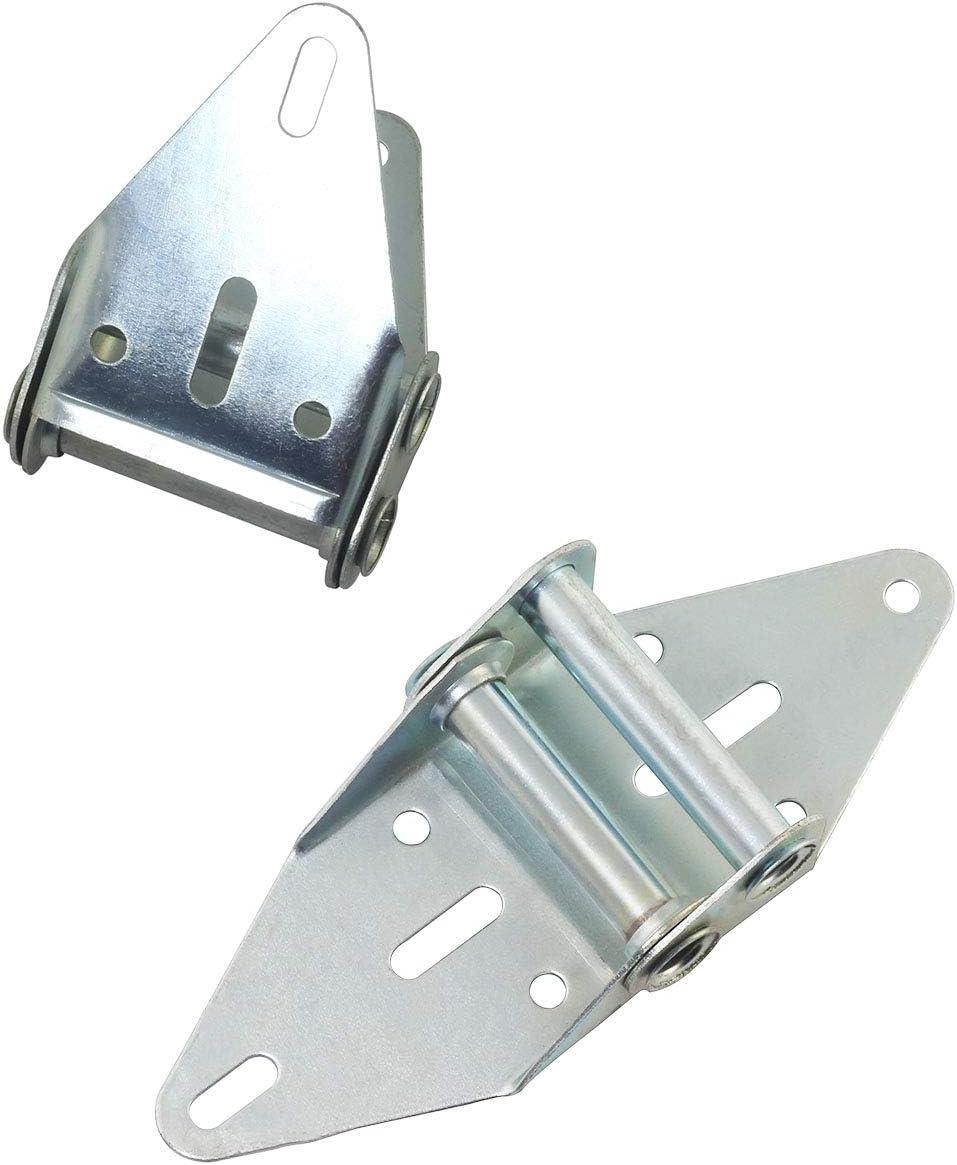 PSCCO 2pcs Heavy Duty Garage Door Hinge Replacement #2 Garage Door Hardware Fittings