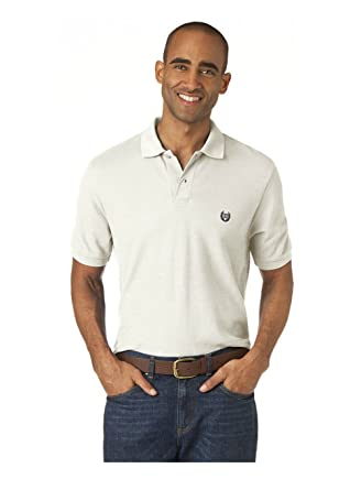 150048cbb Chaps Short Sleeve Solid Polo Shirt at Amazon Men's Clothing store:
