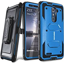 COVRWARE ZTE ZMAX PRO - [Aegis Series] w/ [Built-in Screen Protector] Heavy Duty Full-Body Rugged Holster Armor Case [Belt Swivel Clip][Kickstand]For ZTE ZMAX PRO (2016 Release) / ZTE Carry, Blue