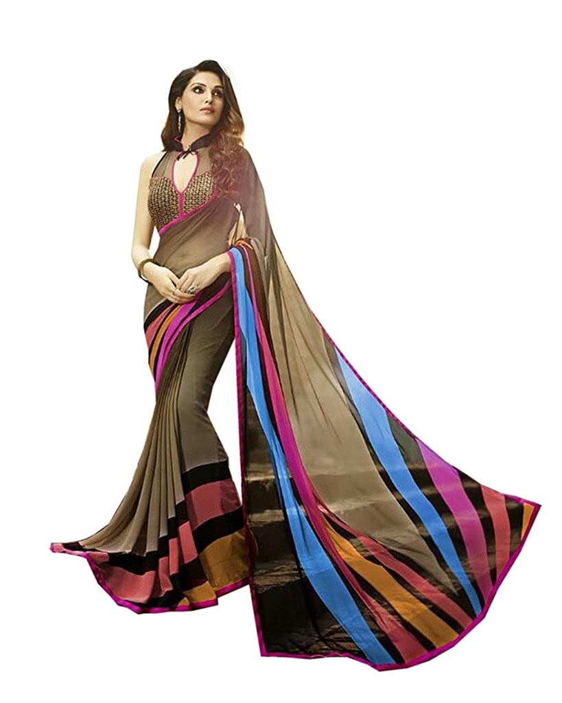 Vinayak Women's Pure Georgette Party Wear Saree With Blouse
