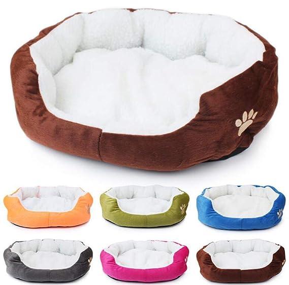 QIONGQIONG Pet Nido Mascota Colchón Sucio Duradera Cómodo Suave Cálido Marrón Pequeña Mascota: Amazon.es: Productos para mascotas