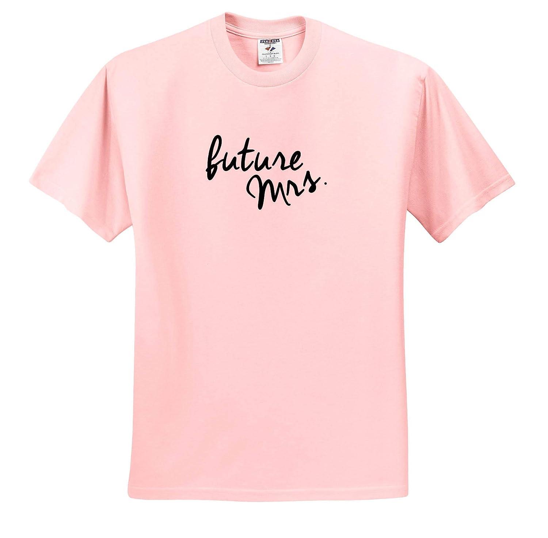 Future Mrs Black 3dRose EvaDane Adult T-Shirt XL Love Sayings ts/_321028