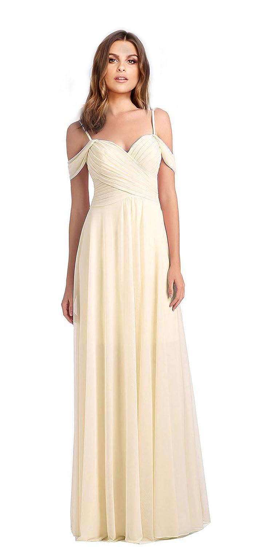 Ivory VaniaDress Women Off The Shoulder Long Formal Dress Prom Gowns V060LF