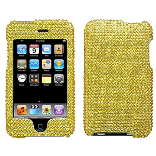MyBat Gold Diamante Protector Faceplate Cover For APPLE iPod touch(2nd generation), iPod touch(3rd generation) (Cover For Apple Ipod Touch 2)