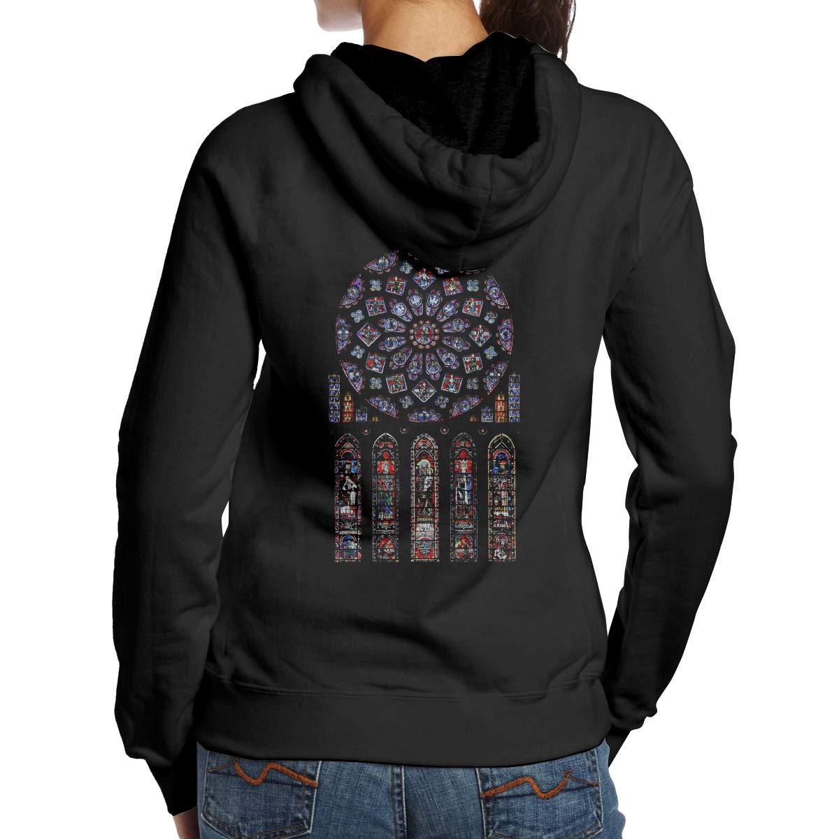 Notre Dame De Paris Printed Pullover Casual Hooded Coats 721 Shirts
