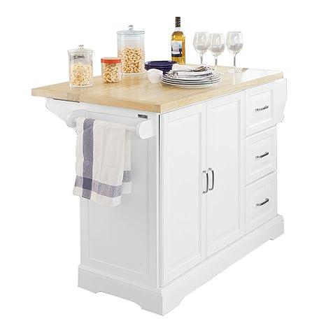 Credenza Cucina Con Piano Di Lavoro.Sobuy Fkw41 Wn Credenza Mobile Di Servizio Per Cucina In