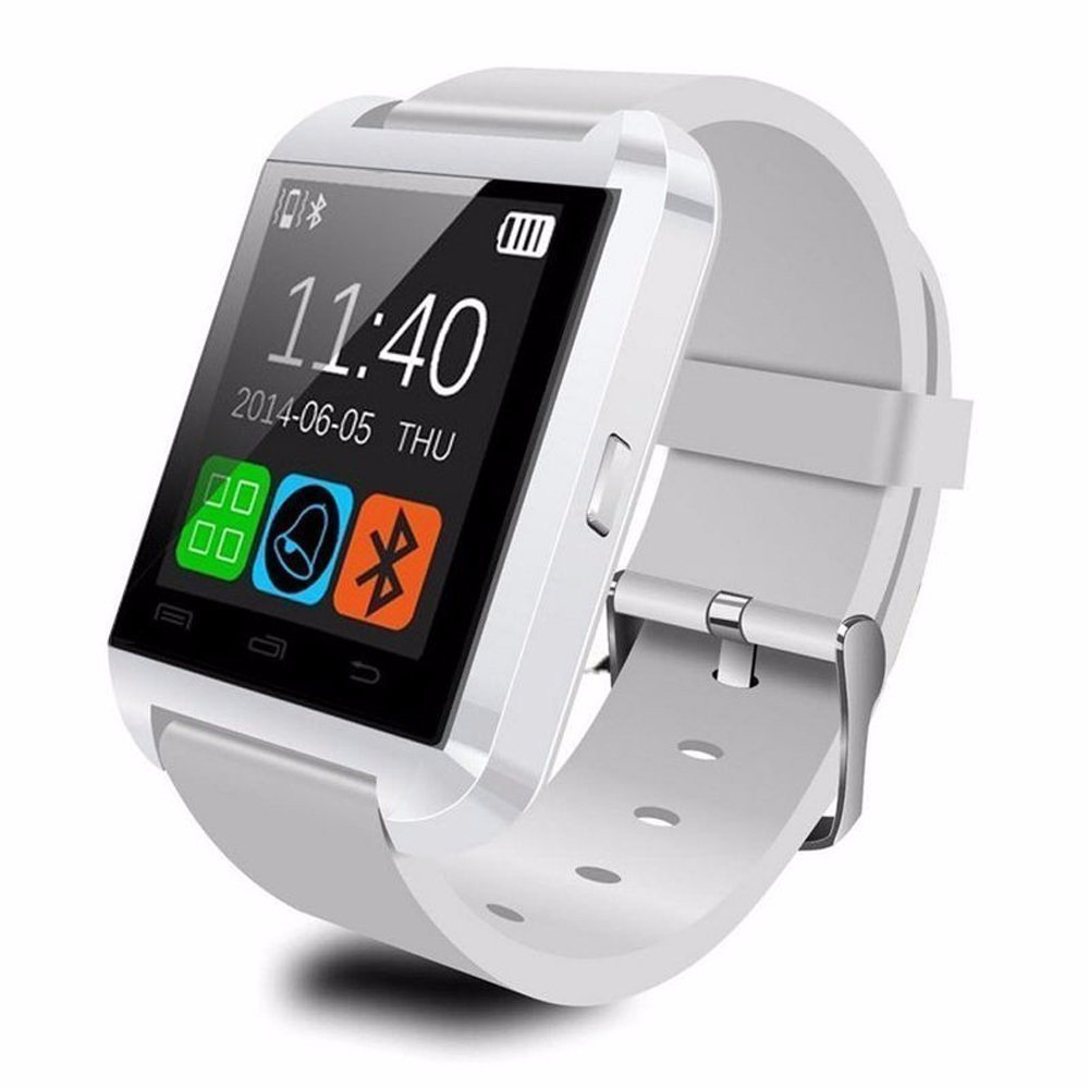 OPTA SW-001 Smart Watch & Fitness Activity Tracker for Android & iOS Smartphones (White)