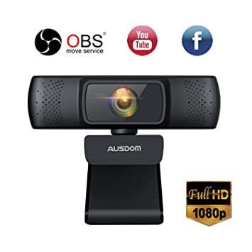 Ausdom Full HD 1080P Webcam for OBS Live, Video Calling and