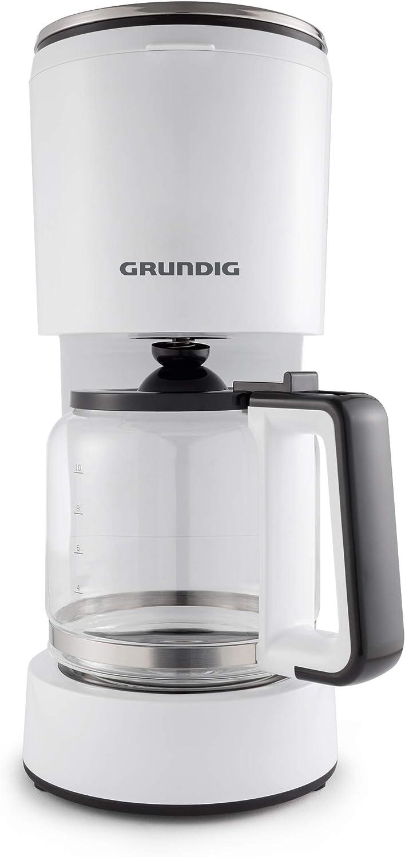 Grundig KM 5860 Independiente - Cafetera (Independiente, Cafetera de filtro, 1,25 L, Negro, Blanco): Amazon.es: Hogar