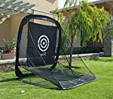 Spornia SPG-5 Golf Practice Net- Automatic Ball Return System with Target sheet, Two Side Barrier, and Chipping Target