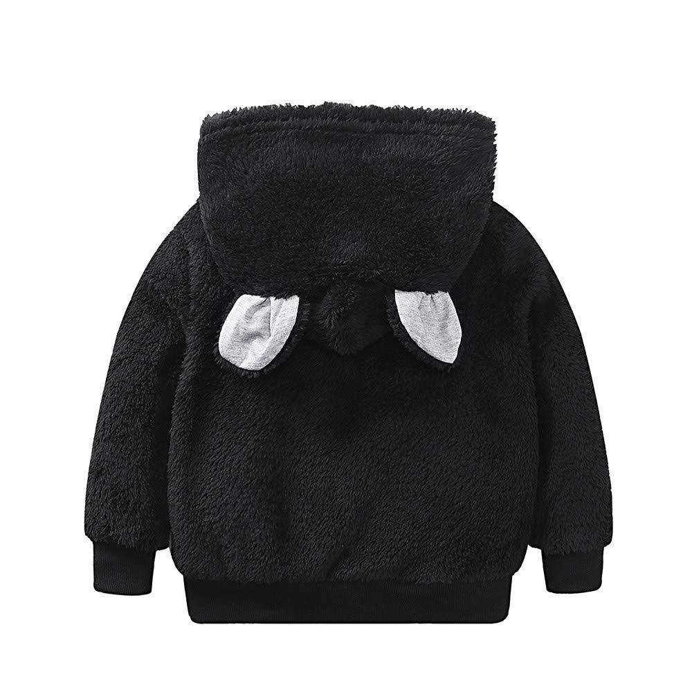 Infant Baby Autumn Winter Cartoon Bear Ears Hooded Coat Girls Boys Warm Thick Cloak Jacket Tronet Snowsuit Winter Warm