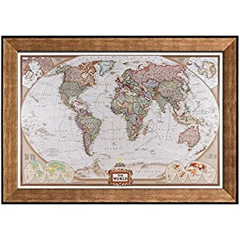 Amazon wall26 colorful national geographic antique world map wall26 colorful national geographic antique world map framed art prints home decor gumiabroncs Image collections