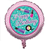 Club Pack of 10 Sparkle Spa Party!Happy Birthday Metallic Foil Party Balloons 18''