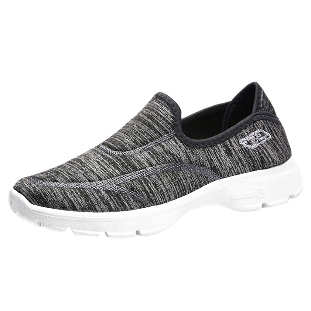 Garish  Women Lazy Shoes,Loafers Sneakers Flats Breathable Stretch Shoes,Outdoor Confotable Shoes Gray