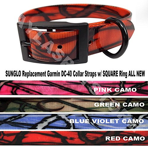 Sparky Petco 1  Heavy Duty High Flex Biothane Camo Replacement Strap Compatible For Garmin  Petsafe  Dogtra Systems  Pink Black