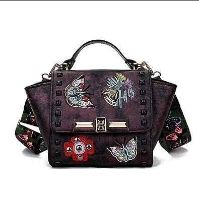 25120eb30c Mzdpp Luxe Nouveau Mode Papillon Broderie Rivet Femmes Sac À Main De Haute  Qualité Couleur Sangles
