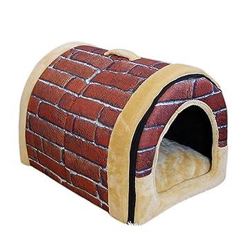 De alta calidad L, M, S portátil exterior Outdoor para perros Perros cama Caseta gato cama en forma de casa: Amazon.es: Productos para mascotas