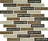 M S International Venetian Cafe 12 In. X 12 In. X 8mm Glass Mesh-Mounted Mosaic Tile, (10 sq. ft., 10 pieces per case)