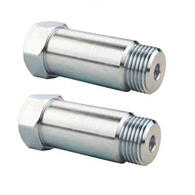 JGR 2PCS Defouler Straight M18 x 1.5 For O2 Oxygen Sensor Lambda Sensor Fitting Bung: Automotive