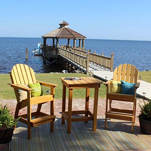 - Essentials by DFO Stained Cypress Adirondack Bar Chair