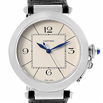 c3a24642535f9 Amazon.com: Cartier Pasha automatic-self-wind male Watch W3107255 ...