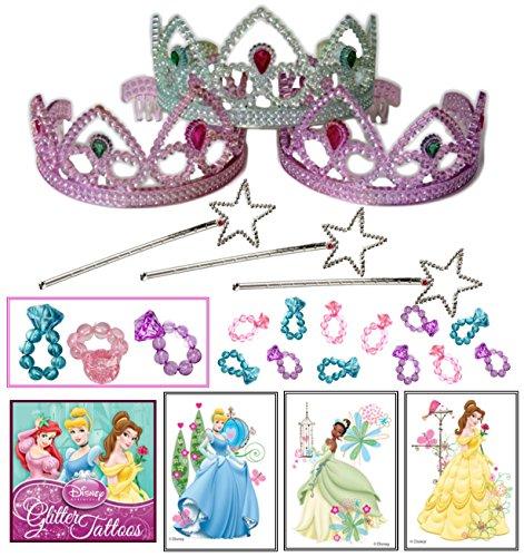 Disney Rapunzel Wand (Princess Party Favor Pack - 36 Pc (12 Tiaras, 12 Mini Star Wands, 12 Princess Disney Tattoos))