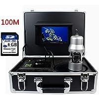 """FG-Underwater fishing camera 7""""TFT Monitor 100M Cable 360 Grados giran cámara subacuática, cámara de Pesca submarina Peces de Color Monitor de Peces buscador"""
