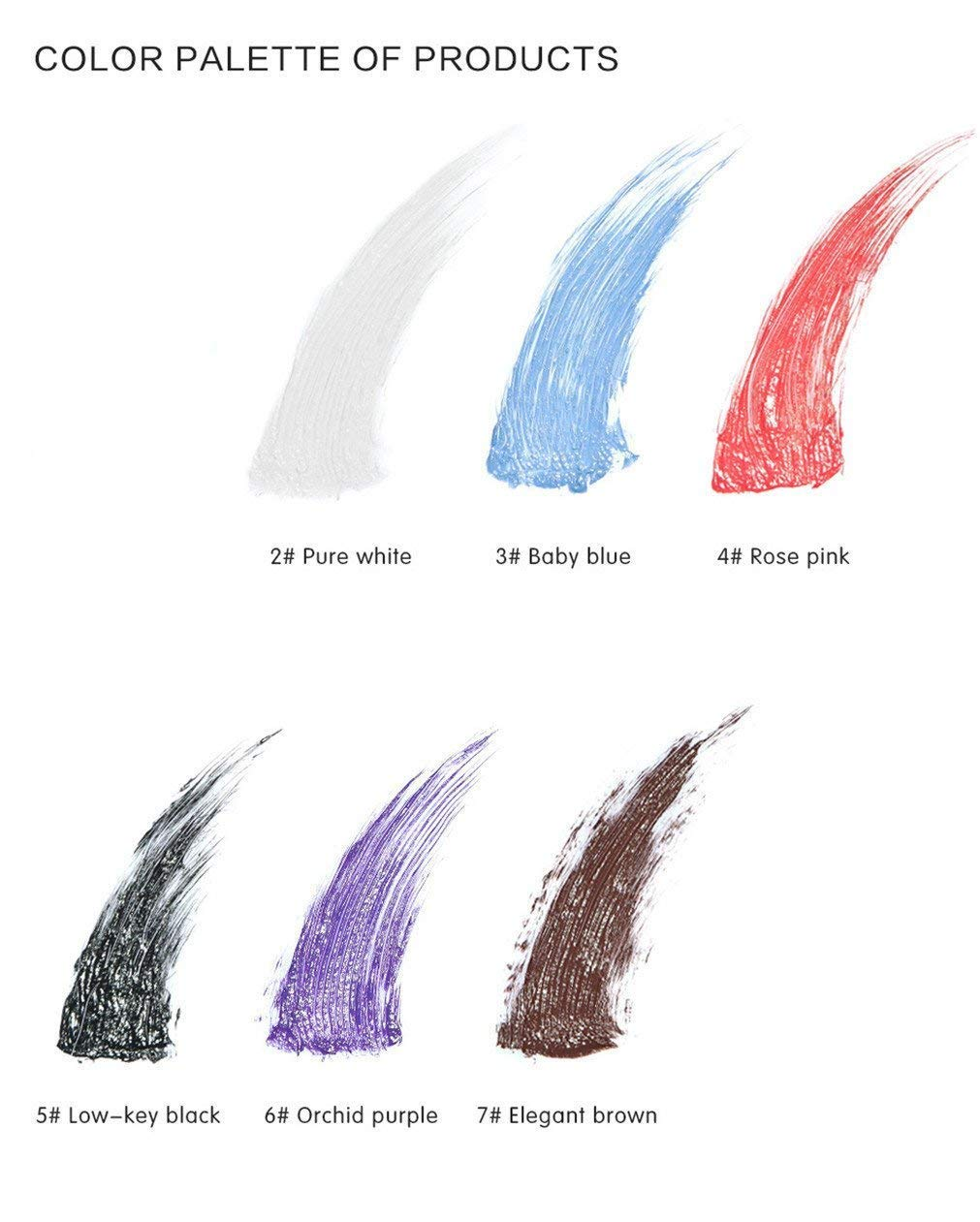 FantasyDay 6Pcs Colors Rainbow Colorful Mascara Waterproof Color Mascara Colorful Eyelash Makeup 3D Fiber Lash Mascara Volume Eye lash Lengthening Gel Perfect Gift for Girls Kids Women by FantasyDay (Image #8)