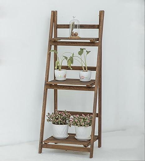 SMHJ estantes para Plantas Estante de Flores Estante para pote Plegable Estantería para Plantas de Madera Estante para jardín Exhibidor Estante Escalera Exterior/Interior (Color : 1): Amazon.es: Hogar