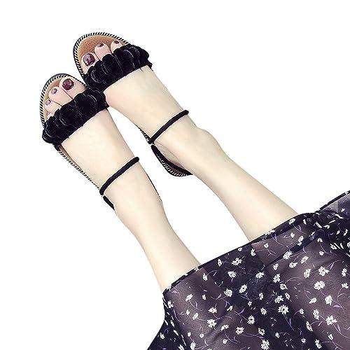 WINWINTOM Hausschuhe Damen Sommer, Flip Flops Damen, Frauen Fashion Solid Color Indoor Outdoor Flache Ferse Sandalen Slipper Strandschuhe 40