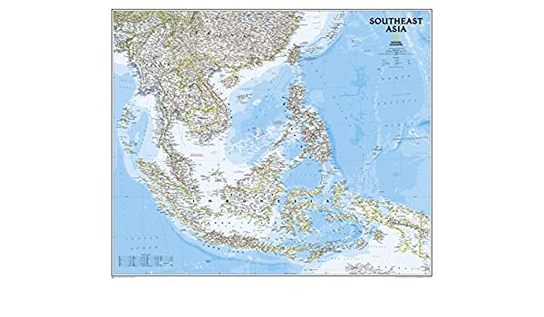 Amazon southeast asia classic wall map material laminated amazon southeast asia classic wall map material laminated office products gumiabroncs Choice Image
